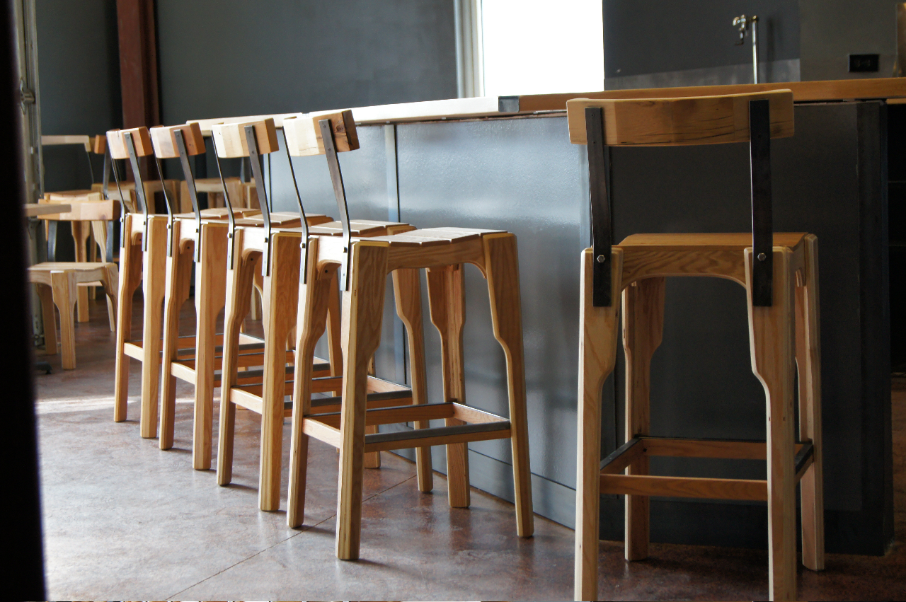 Kick Ass Barstools. | River North Brewery