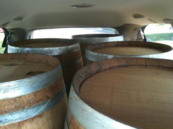 We once fit five wine barrels in that beast...those were the days.